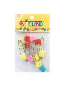 Булавки декоративые с пластиковым цветным наконечником, длина 4 см, набор