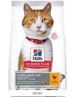 Корм для стерилизованных кошек сухой HILL'S Science Plan Feline Young Adult Sterilised Cat курица 3 кг (604726)