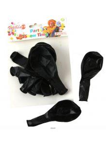Набор воздушных шариков черного цвета 12 штук