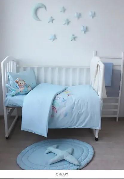 Комплект постельного белья детский Авиатор (пододеяльник 147х112 простыня 150х100 наволочка 40х60 - 1 шт. ) арт. 4551