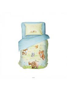 Комплект постельного белья 1,5-спальный Алфавит (п. 215х153, пр. 220х145, н. 50х70 - 1 шт) арт. 4552