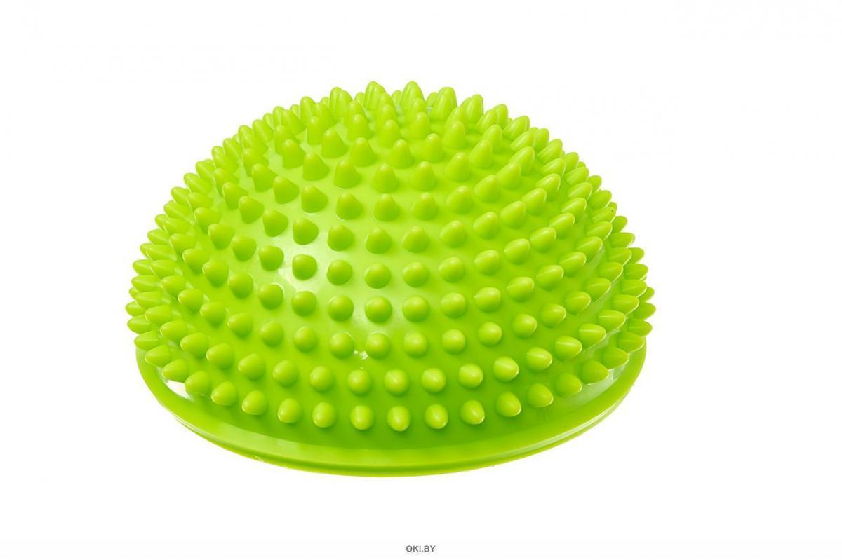 Полусфера балансировочная массажная, зеленая