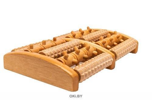 Массажер деревянный роликовый
