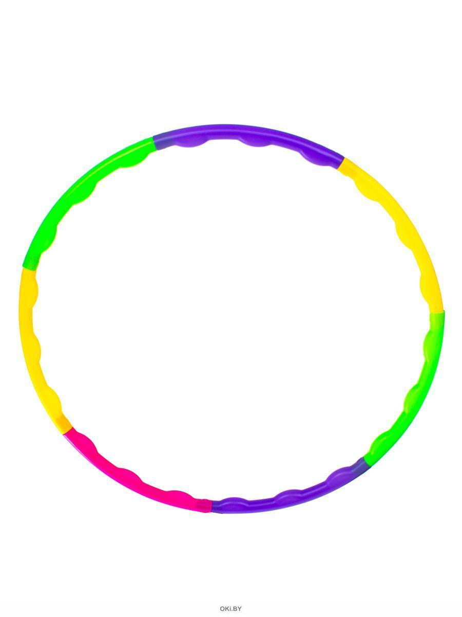 Обруч разборный цветной, пластиковый, диаметр 55 см