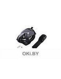 Маска для плавания и снорклинга с креплением для экшн-камеры, черная, S