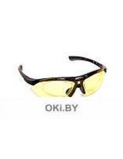 Очки спортивные солнцезащитные с 5 сменными линзами в чехле, красные