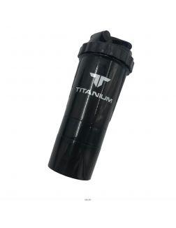Шейкер 0,5 л, TITANIUM, черный