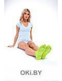 Носки противоскользящие для занятий йогой открытые, салатовые
