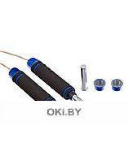 Скакалка с утяжелителями, синяя