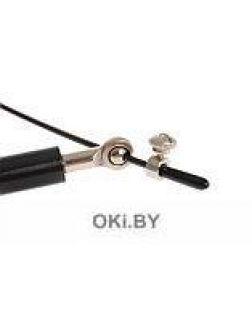 Скакалка скоростная металлическая, черная