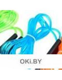 Скакалка скоростная пластиковая, голубая