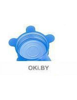 Набор универсальных растягивающихся крышек, 6 шт, силикон, голубой