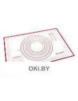 Силиконовый коврик с разметкой 60х40см, красный