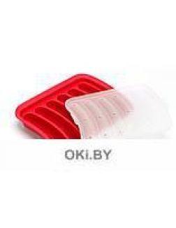 Форма для домашних сосисок и кебабов, красная