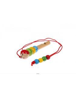 Свисток деревянный на шнурке «ГУСЕНИЦА»