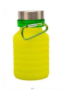 Бутылка для воды силиконовая складная с крышкой, 500 мл, желтая