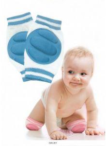 Наколенники детские для ползания голубые