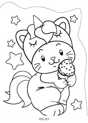 Раскраска вырубная большая «Мур-котики» Играю! Рисую! Фантазирую! (ДЕФЕКТ)