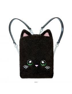 Na! Na! Na! Surprise Игровой набор 3в1 «Рюкзак-спальня. Черный Китти»
