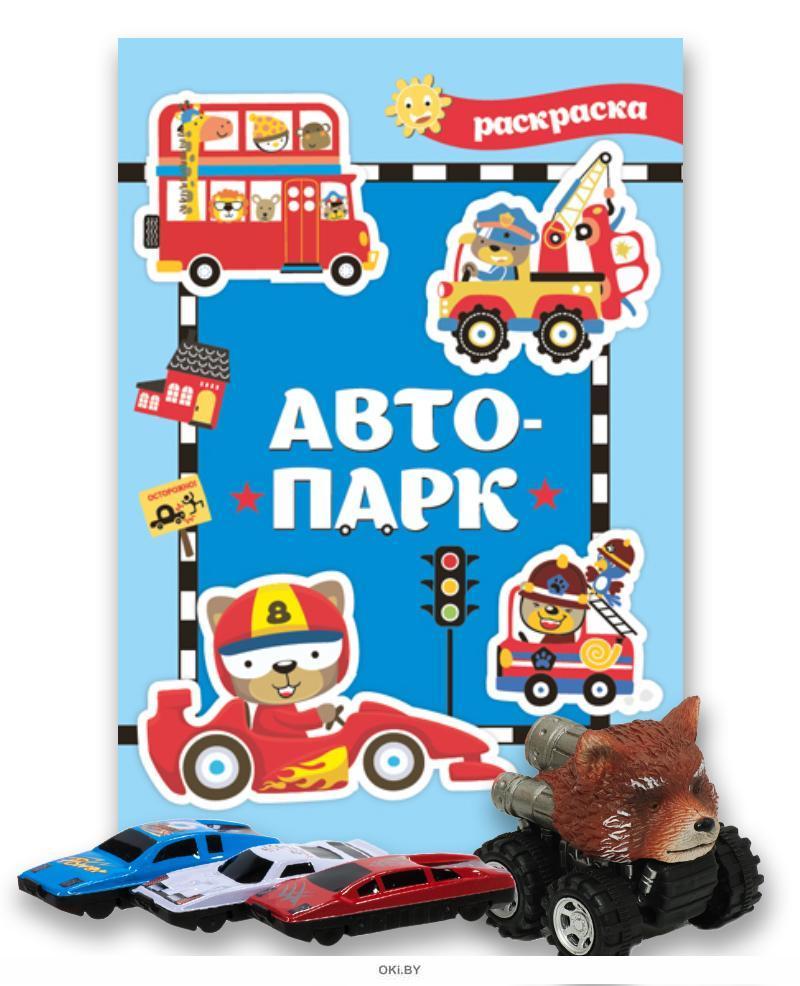 Комплект детский игровой № 12 Раскраска «Атопарк» и машинка в ассортименте