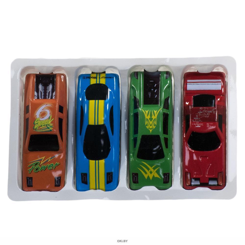 Набор машин свободного катания металлические 4 шт (арт. 33668)