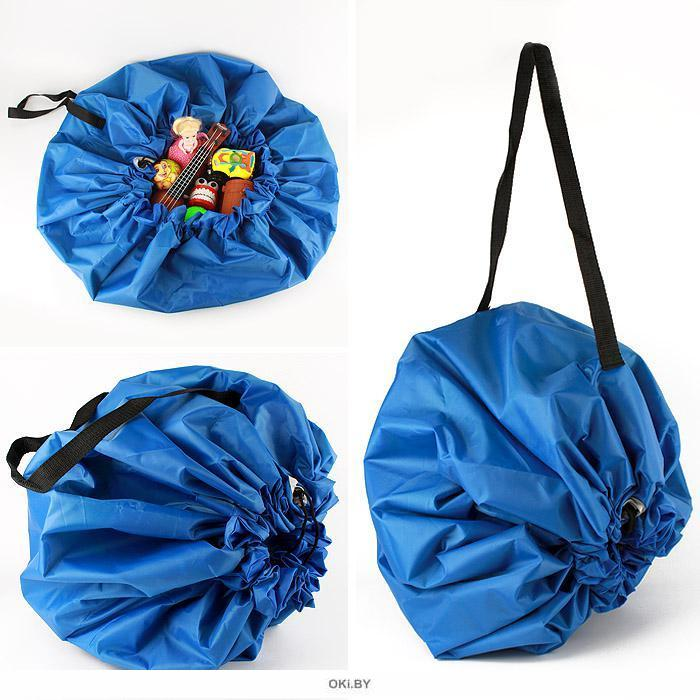 Коврик-сумка развивающий d-120 см голубой