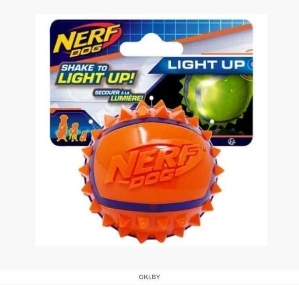 Мяч из термопластичной резины с шипами НЁРФ 9 см (синий / оранжевый)