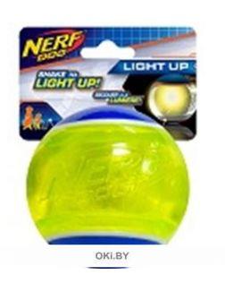 Мяч светящийся прозрачный НЁРФ 8 см (синий / зеленый) 54500