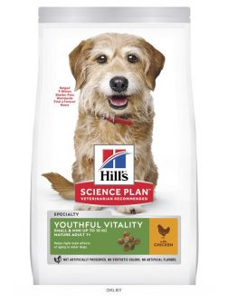 Hill's Youthful Vitality Small and Mini Mature Adult 7+ декоративных пород старше 7 лет 1,5 кг
