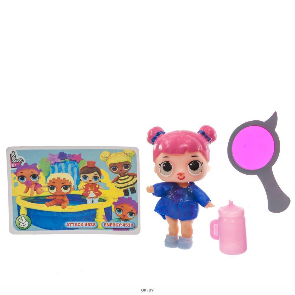 Кукла Лолла 8 см с одеждой 6 видов в ассортименте с карточкой