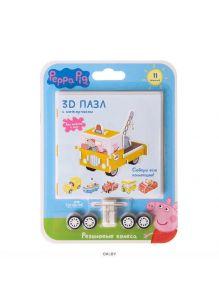 3D-пазл «Свинка Пеппа» c резиновыми колесами и инерционным механизмом в ассортименте