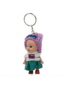 Брелок кукла в шапочке 8 см 12 цветов в ассортименте