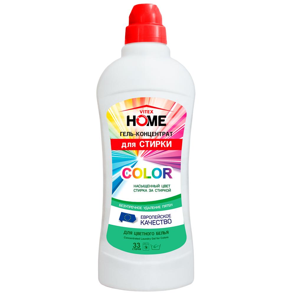 Гель-концентрат для СТИРКИ Color (для цветного белья) 1000 мл VITEX HOME