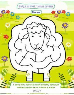 Раскраска-лабринт «Эти забавные животные. Дошкольник». Умный ребёнок Играю! Рисую! Фантазирую! 3 / 2021