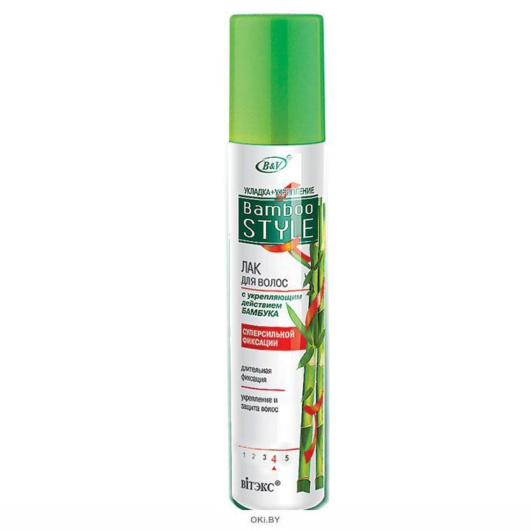 ЛАК для волос с укрепляющим действием бамбука CУПЕРсильной фиксации 215 мл BAMBOO STYLE