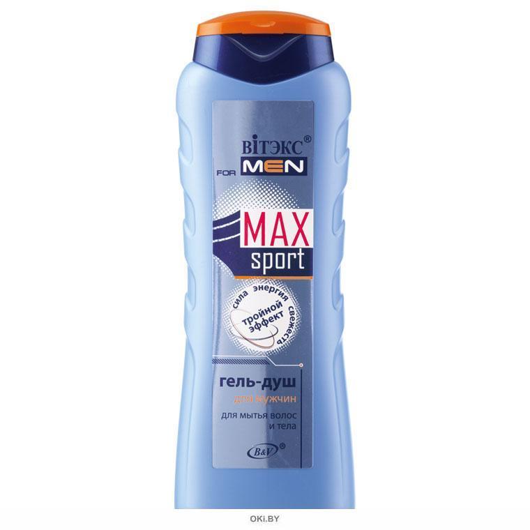 ГЕЛЬ-ДУШ для мытья волос и тела 400 мл FOR MEN MAX Sport