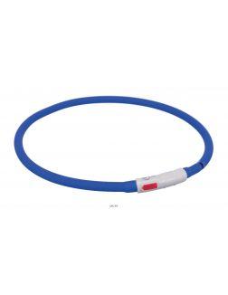 Ошейник светящийся TRIXIE XS-XL: 70 см / d=10 мм USB Flash силикон синий