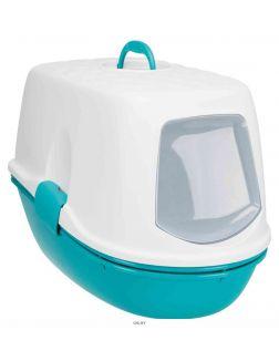 Туалет-домик с колпаком-крышкой 39 х 42 х 59 см бирюзовый / белый TRIXIE Berto Top