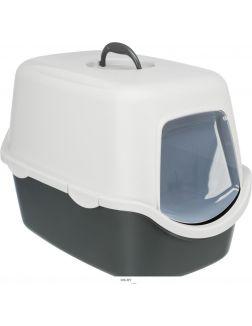 Туалет-домик 40 х 40 х 56 cм тёмно-серый / светло-серый TRIXIE Vico