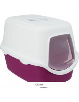 Туалет-домик 40 х 40 х 56 см ягодный-белый TRIXIE Vico