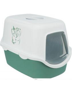 Туалет-домик 40 х 40 х 56 cм зелёный / белый TRIXIE Vico