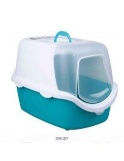 Туалет-домик 40 х 40 х 56 cм голубо-серый / белый TRIXIE Vico Open Top