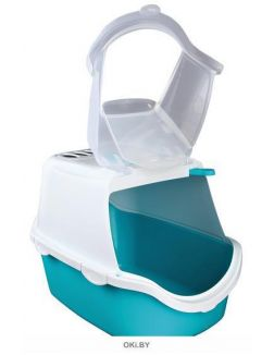 Туалет-домик 40 х 40 х 56 см бирюзовый / белый TRIXIE Vico Open Top