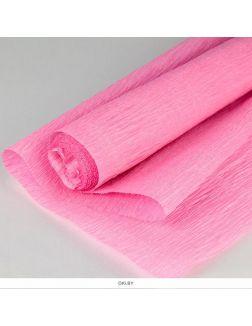 Бумага гофрированная поделочная 50х200 см розовая