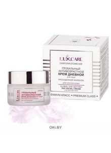 Глобальный антивозрастной крем дневной для лица насыщенная формула LUXCARE для зрелой кожи 45 мл