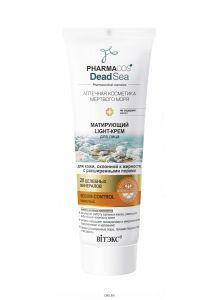 Light-крем для лица матирующий для кожи, склонной к жирности, с расширенными порами PHARMACOS DEAD SEA 75 мл