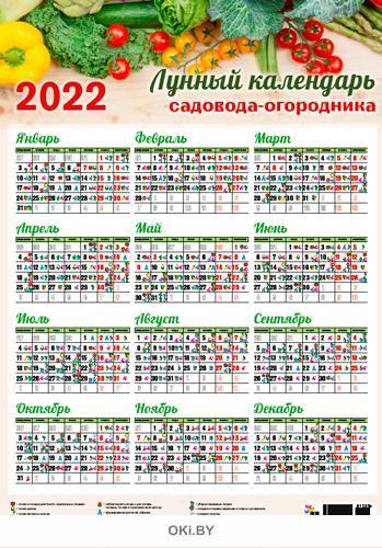 Лунный календарь садовода-огородника листовой на 2022 год (А2)