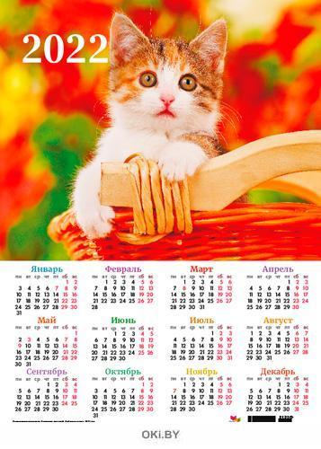 Календарь листовой «Любимые котята» на 2022 год (А3)