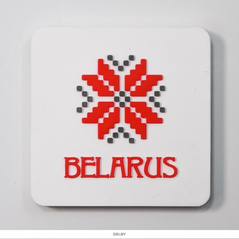 Магнит белый «BELARUS ARNAMENT»