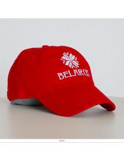 Бейсболка «BELARUS ARNAMENT», красная